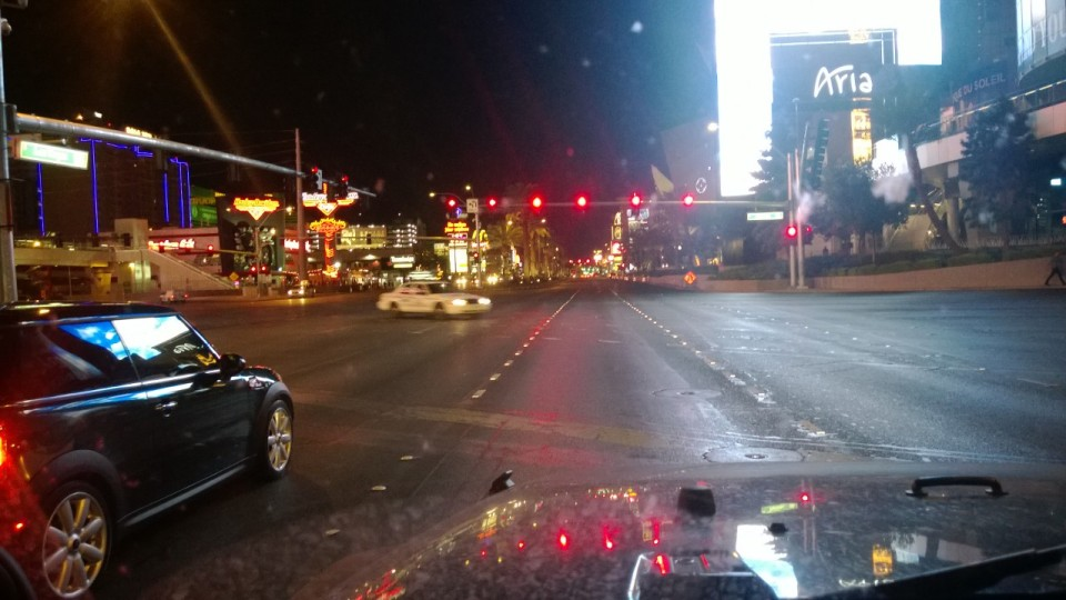 Las Vegas Blvd. around 4:00 AM.
